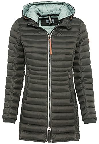 camel active Womenswear Damen 3200506E50 Jacke, Dark Khaki, 48