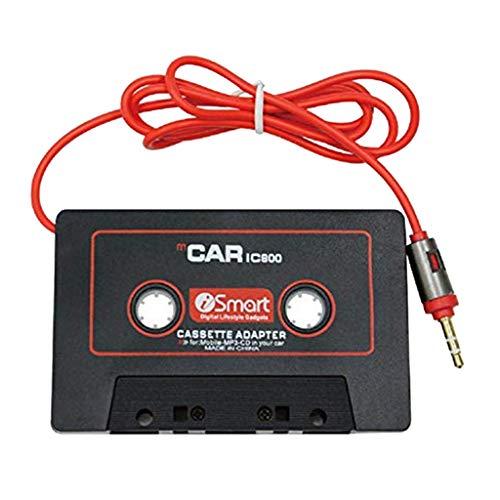 B Blesiya - Adaptador de audio estéreo para coche (clavija jack de 3,5 mm), color negro