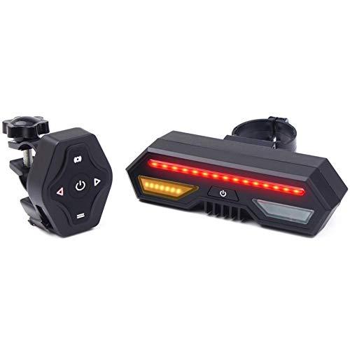 Frieed Luz de Advertencia de Carga Seguridad de la Bicicleta LED Bicicleta luz Trasera USB for Aluminio de Ciclo Giro práctico de la luz Trasera de la Bicicleta de la señal Durable (Color : As Show)