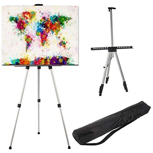 LIVIVO - Caballete telescópico con trípode y soporte para pintura o pizarra blanca
