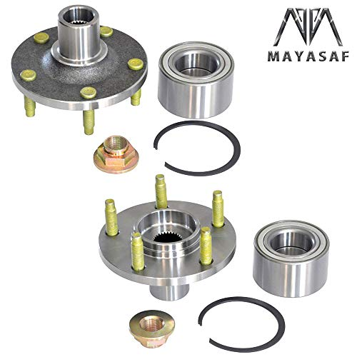 MAYASAF 518515 [Pack of 2] Front Wheel Hub Bearing 5 lugs Fit 2001-12 for Ford Escape, 2001-06 & 08-11 for Mazda Tribute, 2005-11 for Mercury Mariner