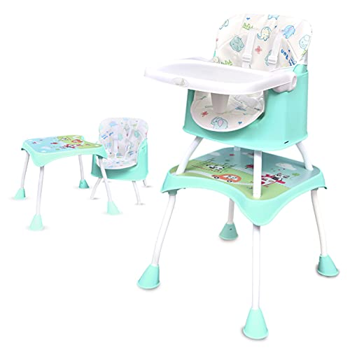 R for Rabbit Cherry Berry Grand Baby High chair, 4 in 1 Convertible High Chair Cum Booster Seat, High Chair for baby Feeding, High...