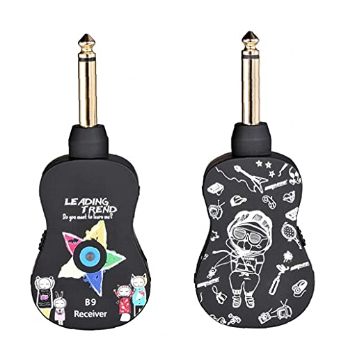 Naisicatar Receptor De Transmisor De Guitarra Inalámbrico Receptor del Receptor del Receptor para Guitarra Acústica De Guitarra Ukulele