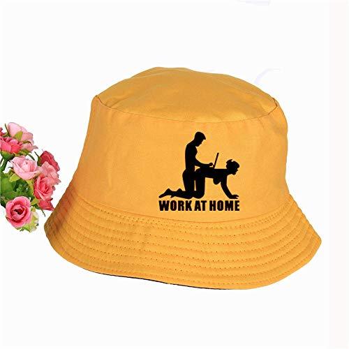 Kuletieas Fischerhut Woke ZU Hause Geek Print Hut Damen Herren Panama Bucket Hat Woke ZU Hause Geek Logo Design Flache Sonnenblende Angeln Fischerhut