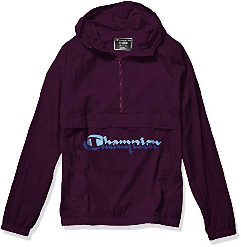 Champion Life Men's Anorak Windbreaker, Venetian Purple w/Shadow Script, Small