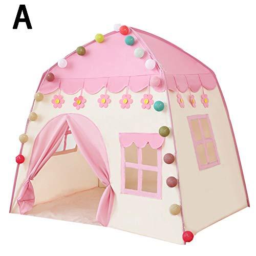 Fanville Zelt-Pop-up Zelte Bettzelte Klappbare Kinderzelt Tragbare Kinderzelte Tipi Großes Spielhaus Kinderbett Zelt