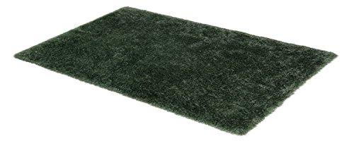 SCHÖNER WOHNEN, Pogo, hochwertiger Teppich, fusselfrei und antistatisch, 140 x 200 cm, moosgrün