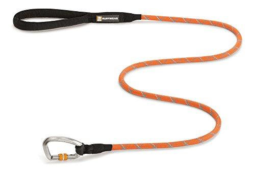 Ruffwear Hundeleine mit Karabiner Clip, Alle Hunderassen, Größe: S - Durchmesser: 7 mm, Länge: 1,5 m, Robustes Kernmantelseil, Orange (Pumpkin Orange), Knot-a-Leash