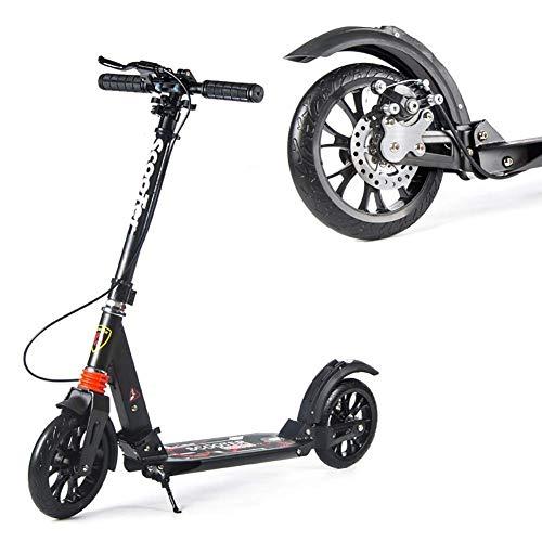 GPWDSN Scooter Kickstart Patada para Scooter Deportivo al Aire Libre Patada para Adultos con Manillar Rueda de PU, Suspensión Doble Ajustable con Freno de Manillar, Plegado fácil, 100 kg Lo
