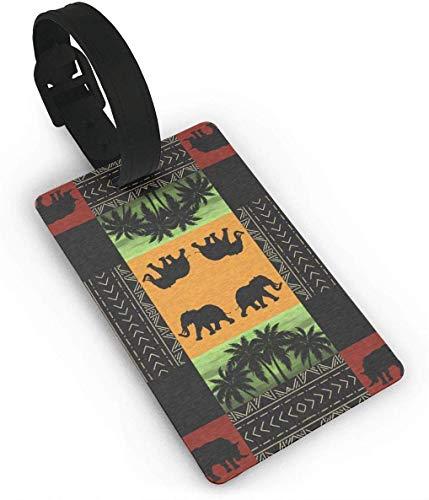 African Wildlife Fabric Travel Lage ID-Tags Kofferanhänger, Busin-Kartenhalter