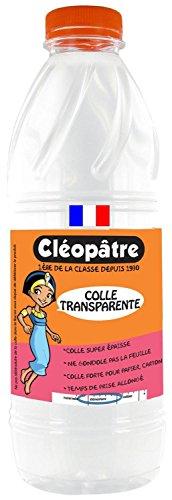 Cleopatre–Juego de 6botellas de cola 1litro de recarga sintética transparente
