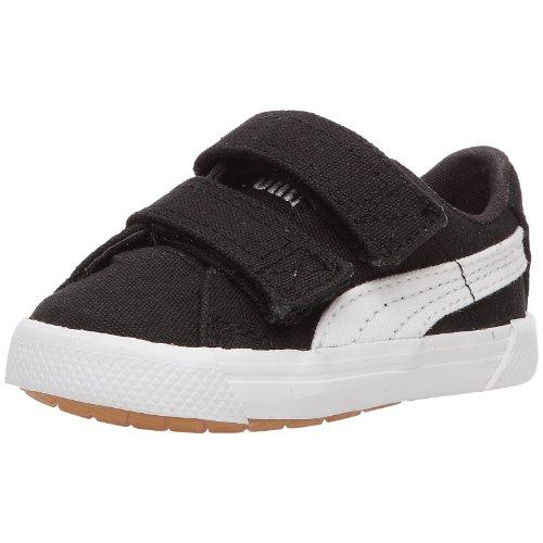 Puma Benecio Canvas V Kids 351507 Unisex - Kinder Sneaker, Schwarz / Weiß, 27 EU