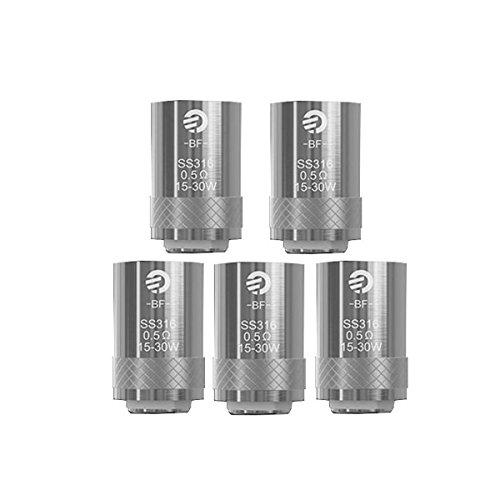 Joyetech Cubis Coils, 5 Packungen Ersatzteile Joyetech Cubis BF Sub Ohm Coils - 0,5 Ohm Edelstahl SS316