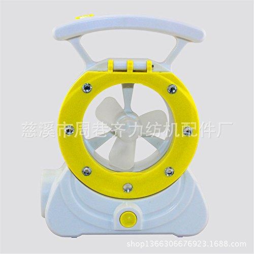 Mini LED della ventola della ventola della lampada dello studente ricaricabile portatile mini ventilatore, giallo