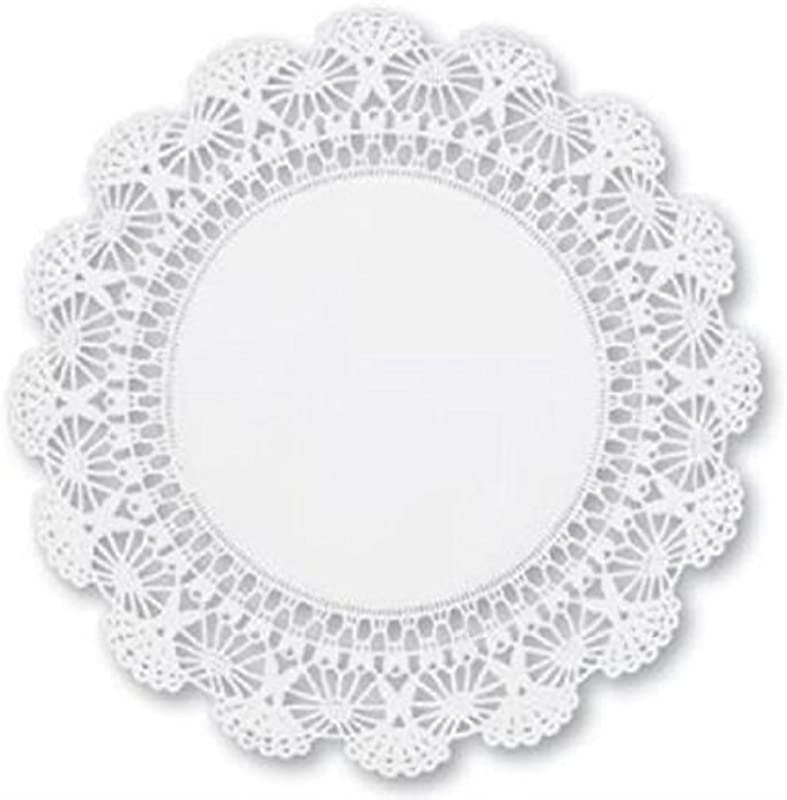 Round Paper Lace Table Doilies 8 Inch White Decorative Disposable Placemats Pack Of 200