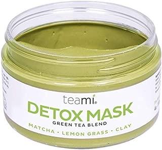 Teami Detox Face Mask - Green Tea Facial Care Mud Mask with Bentonite Clay
