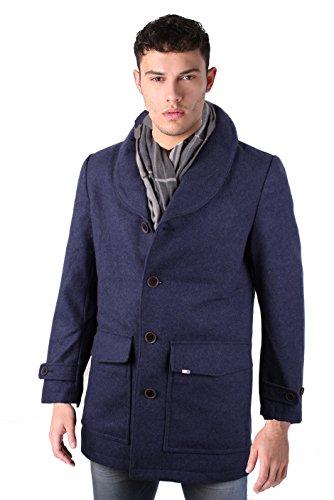 Timberland Hombre Abrigo De Lana Viajero Shearl (Medium, Azul Oscuro)