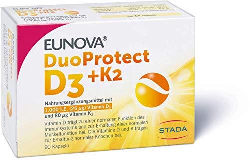 Eunova DuoProtect D3 + K2 1000 I.E. Kapseln, 90 St
