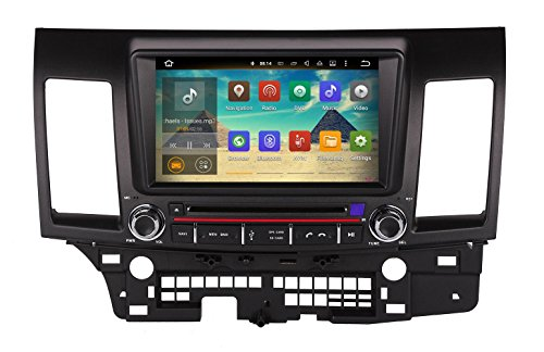 XTTEK 8 inch HD 1024x600 Multi-touch Screen in dash Car GPS Navigation System for Mitsubishi Lancer 2008-2013 Quad Core Android DVD Player+Bluetooth+WIFI+SWC+Backup Camera+North America Map