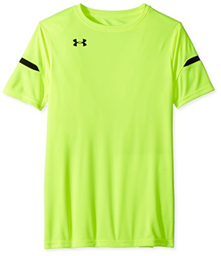 Under Armour Boys' Youth Golazo 2.0 Jersey, High-Vis Yellow (731)/Black, Youth Large