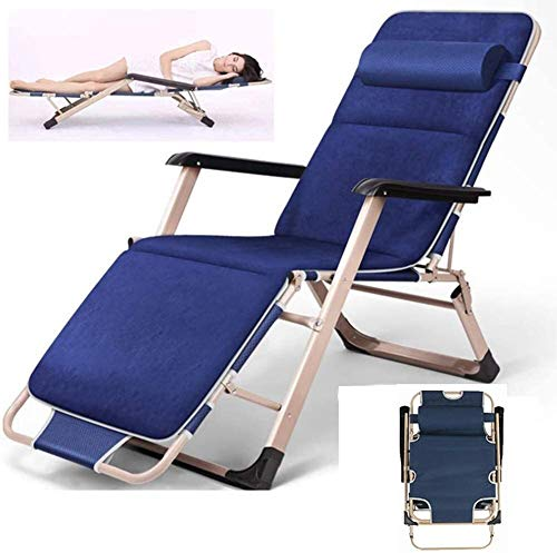 LCTCDD Faltbare Lounger Chair, Chaiselongue Folding Tragbare Reclining Sun Lounger Chair Zero Gravity Lehnstuhl for Schlafzimmer Wohnzimmer Terrasse Camping Freizeit, Größe: Style 2
