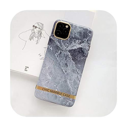 SUSUSUSUSU - Carcasa para iPhone 11, diseño de barra dorada brillante, color mármol