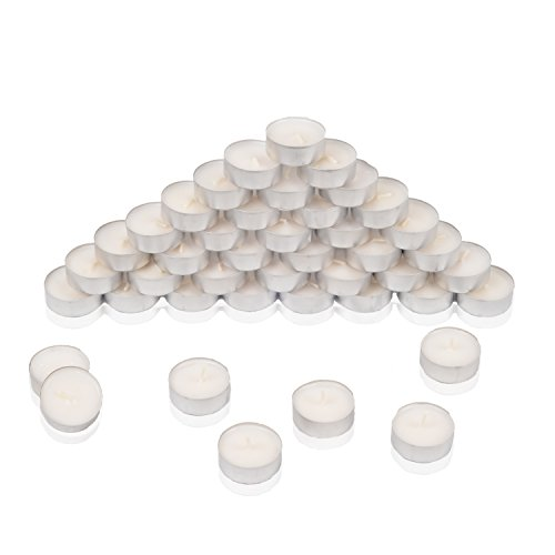 HSM 400 Stück Teelichter Teelicht Kerzen Kerze Rechaudkerze 4 Std Brenndauer Weiß