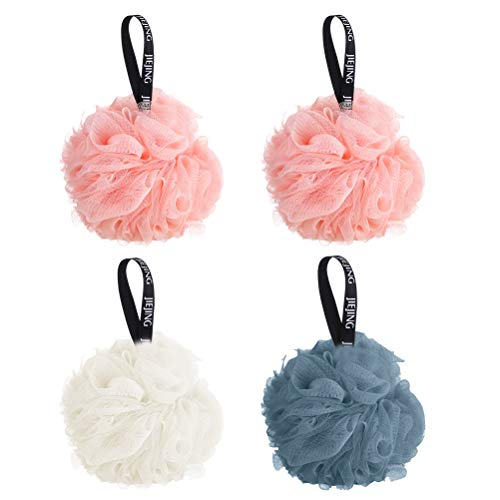Mesh Sponge Bath Shower Loofah Sponge Ball Loofa Cleanse Soothe Skin Body Scrubber Cleanser Smooth Skin Brushing Mesh Multi-Color Healthy Durable Convenient Hanging