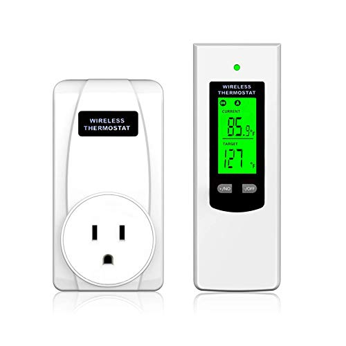 DUOLANG wireless thermostat|Plug-in thermostat|Wireless control|Heating&cooling mode|LCD display| |High/Low temperature alarms|Handheld/table stand/wall mounted