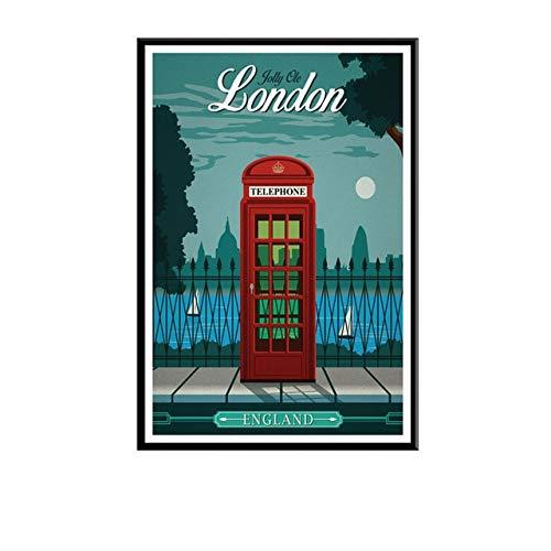 5D Diy diamante pintura Londres Europa América paisaje de la ciudad Kit de punto de cruz bordado mosaico arte imagen decoración del hogar A20 40x50cm
