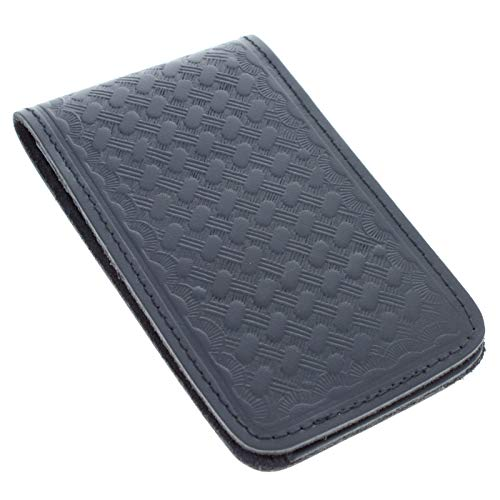 ASR Federal Leather Memo Note Pad Pocket Book Cover 3 x 5 Inch - Basket Weave