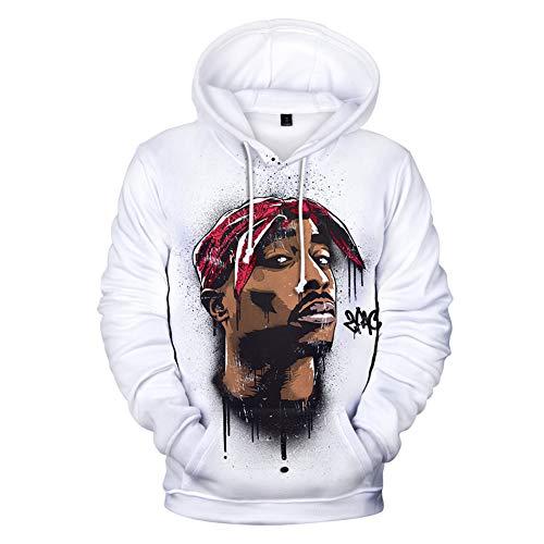 hengGuKeJiYo Rap 2Pac Hoodies Herren Hoodie Sweatshirt Kapuze Herren/Damen 2Pac Tupac Amaru Shakur Hoody Winter Cap Trainingsanzüge (7,2XL)