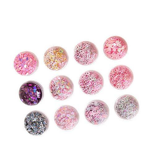 Stars Shape Nail Art Décorations Sequins Glitter - 12 Couleur