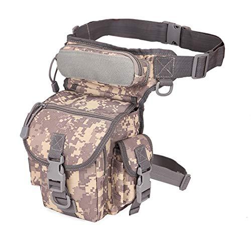 Bolso del paquete de la cintura Pierna táctica Bolsa - 800D bolsa impermeable táctica militares de la armadura de la pierna bolsa de herramientas de caza táctica del muslo Fanny Pack de conductores de