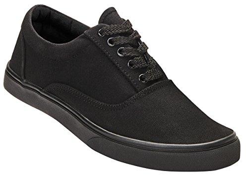 Brandit Sneaker Bayside, Leinenschuh, Unisex, Classic - schwarz - 43