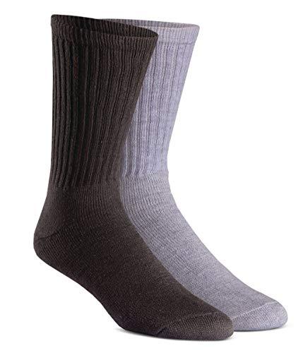 Fox River Rugged Crew Socken, mittelschwer, 6 Paar, Damen Unisex-Erwachsene Herren, Rugged Crew Value Pk Cs 6546, sortiert, Large