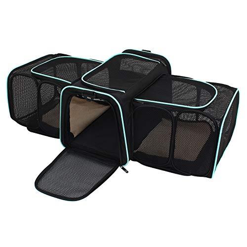Display4top Transporttasche für Haustiere,erweiterbar,Hundebox faltbar Transportbox Hunde und Katze