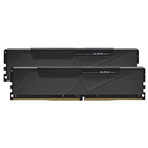 KLEVV Bolt X Kit de 32GB (16GB x2) 3200MHz Memoria para Gamers DDR4-RAM XMP 2.0 no RGB Overclocking de Alto Rendimiento