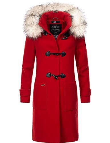 Navahoo Damen Winter Mantel Winterparka Oksana Rot Gr. M