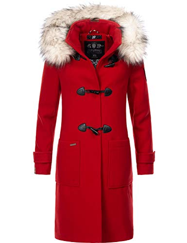 Navahoo Damen Winter Mantel Winterparka Oksana Rot Gr. XXL