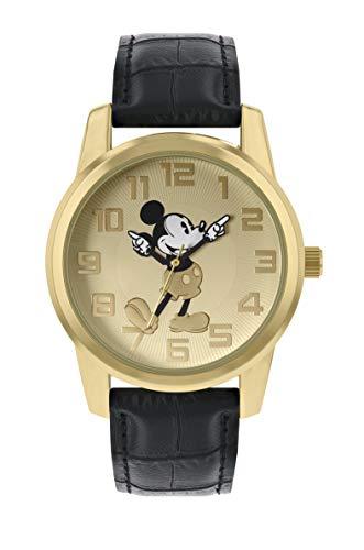 Mickey Mouse Reloj Analógico para Mujer de Cuarzo con Correa en Cuero MK1458