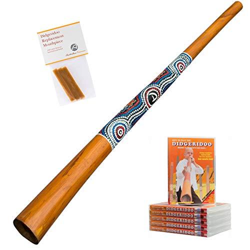 Australian Treasures - Didgeridoo Anfänger Packet ''Natural Paint'' + DVD + Bienenwachs