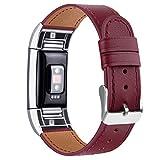 Tobfit Bracelet Compatible Fitbit Charge 2 en Cuir Sport Femme Homme,Bande de...
