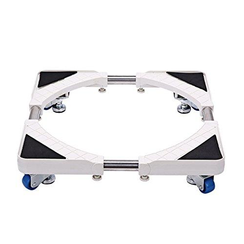 洗濯台 かさ上げ 昇降可能の洗濯機置き台 コンテナ台車 4つ移動式ホイール 寸法調節可能-HXF88A010
