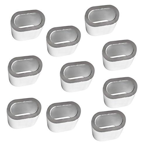10 Stück Aluminium Pressklemmen Presshülsen Seilklemmen Drahtseilklemmen Drahtseil Hülsen - 10mm