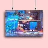 qggbgv Impresiones de decoración del hogar Pintura Familiar cálida Imágenes HD Arte de la Pared del Acuario HD Lienzo Modular Cartel Creativo para el Fondo de la cabecera 40X60CM Enmarcado