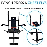 Fit4home Ltd Adjustable Weight Lifting Bench Multi-Functional Folding Home Gym Weight Bench | TF-1001 W282A Black & Red