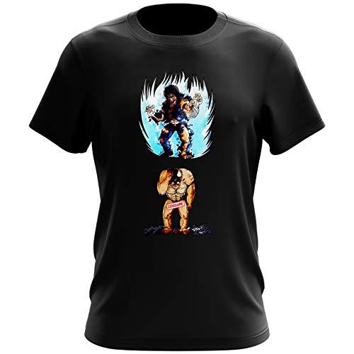 Okiwoki T-Shirt Noir Hokuto No Ken Le Survivant parodique Kenshiro : Trop de Puissance. !!! : (Parodie Hokuto No Ken Le Survivant)