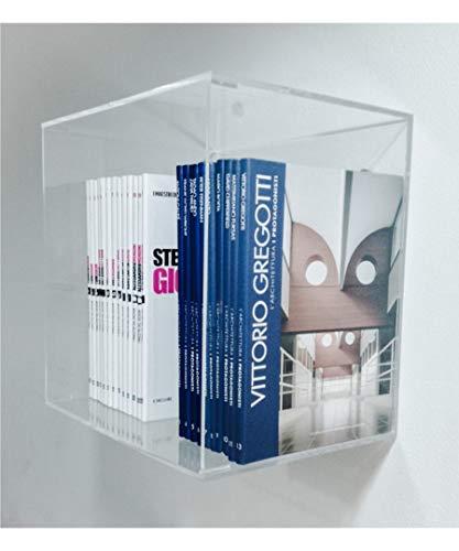KOMUNICA DESIGN Mensola Cubo 30x20x30 n plexiglass Trasparente 5 mm