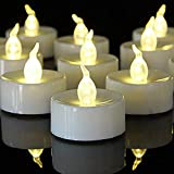 Battery Operated Tea Light Candles:150 Pack Flameless LED Realistic Flickering Candles 100+ Hours Electric Fake Candle in Warm White Ideal for Party, Wedding, Birthday, Gifts and Home Decoration
